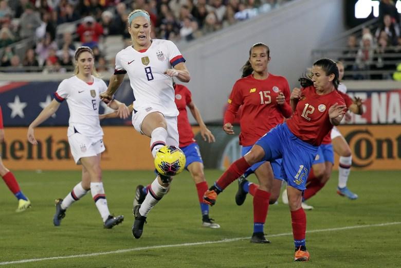 En Jacksonville, Estados Unidos le pasó por encima a Costa Rica en juego de preparación para el Preolímpico.
