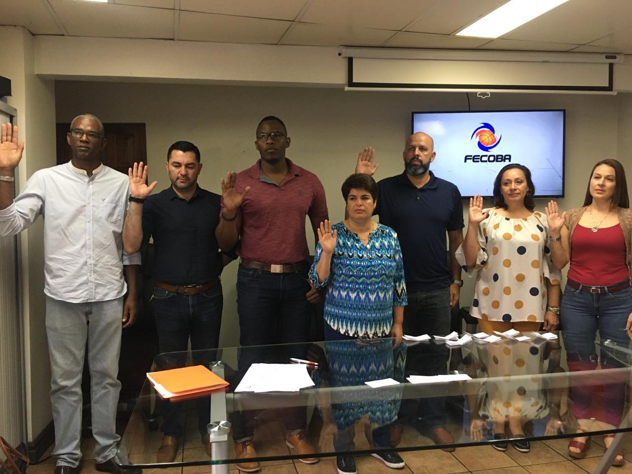 Asamblea General nombró Comité Ejecutivo de la Federación Costarricense de Baloncesto.