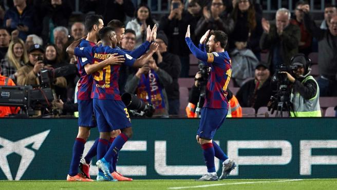 Barcelona clasificó a cuartos de final de la Copa del Rey goleando al Leganés.