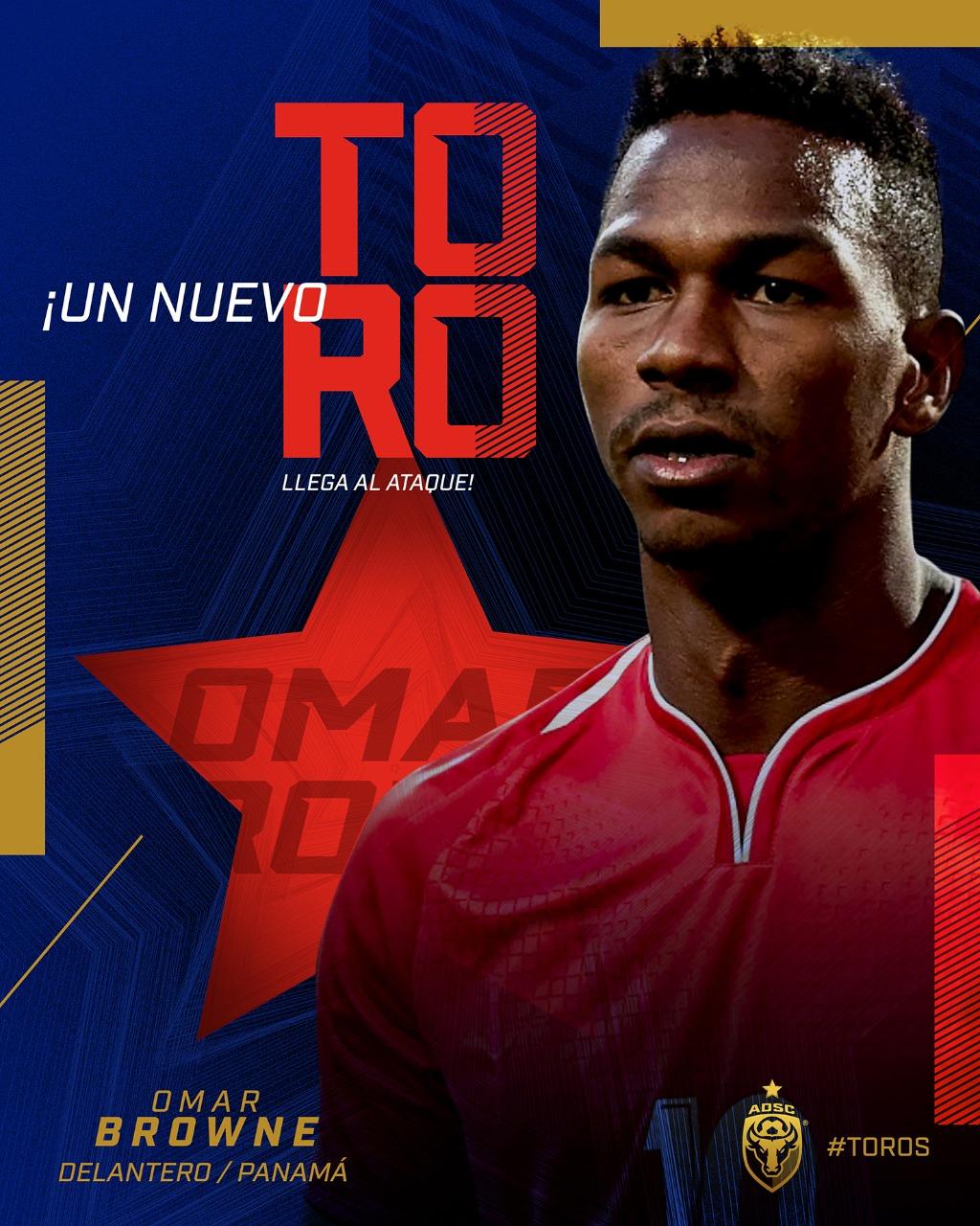 San Carlos anuncia la contratación del volante panameño, Omar Browne.