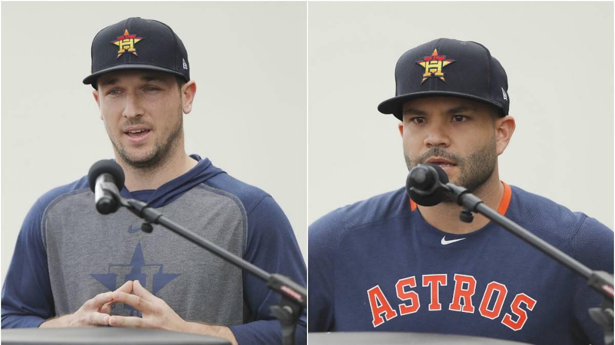 Alex Bregman y José Altuve se disculpan por el robo de señas.