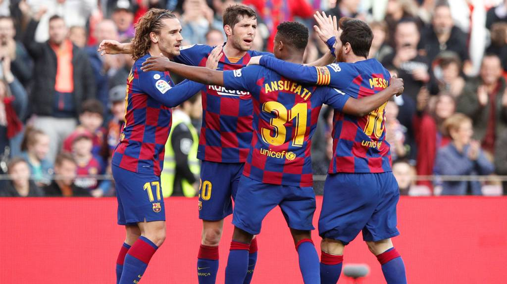 Con sufrimiento y pidiendo tiempo, el Barcelona derrotó al Getafe.