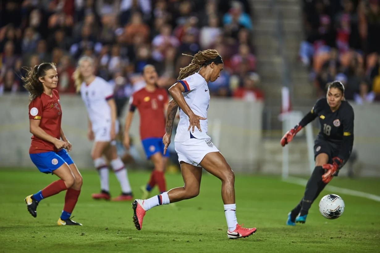 ¡Preolímpico Femenino! Estados Unidos ganó el primer lugar del grupo tras vapulear 6-0 a Costa Rica.