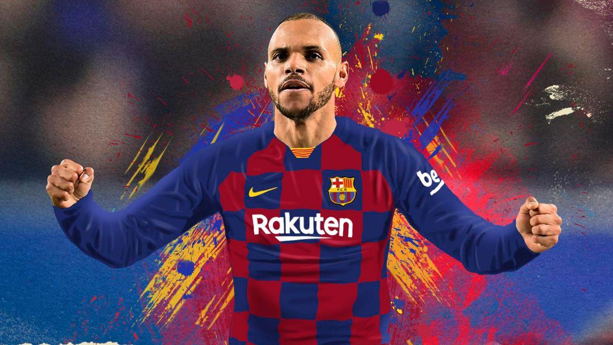 Martin Braithwaite es el nuevo delantero contratado por el Barcelona.