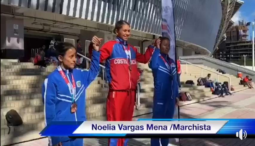 Noelia Vargas se coronó campeona Centroamericana de 20 kilómetros Marcha.