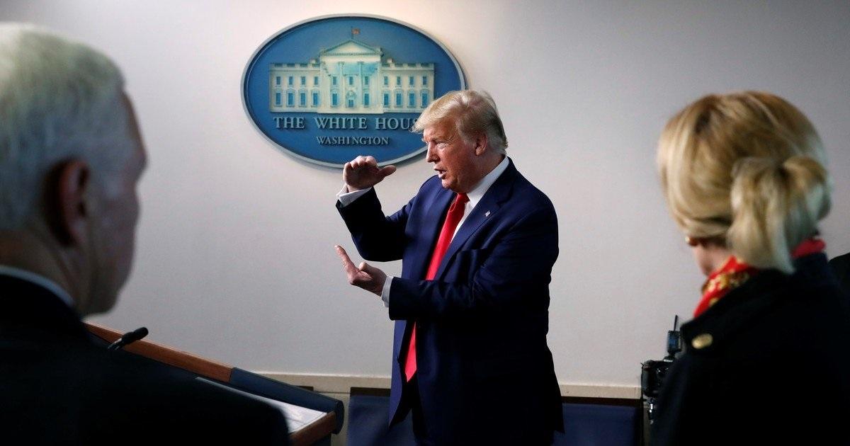 Donald Trump ansioso de que las competiciones se reanuden lo más pronto posible.