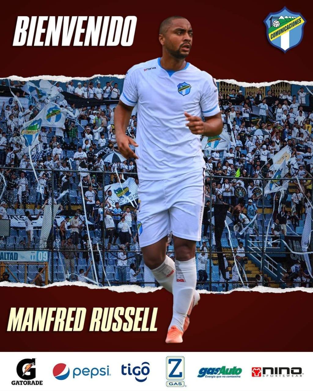 Manfred Russell deja el Cartaginés y es nuevo refuerzo del Comunicaciones de Guatemala.