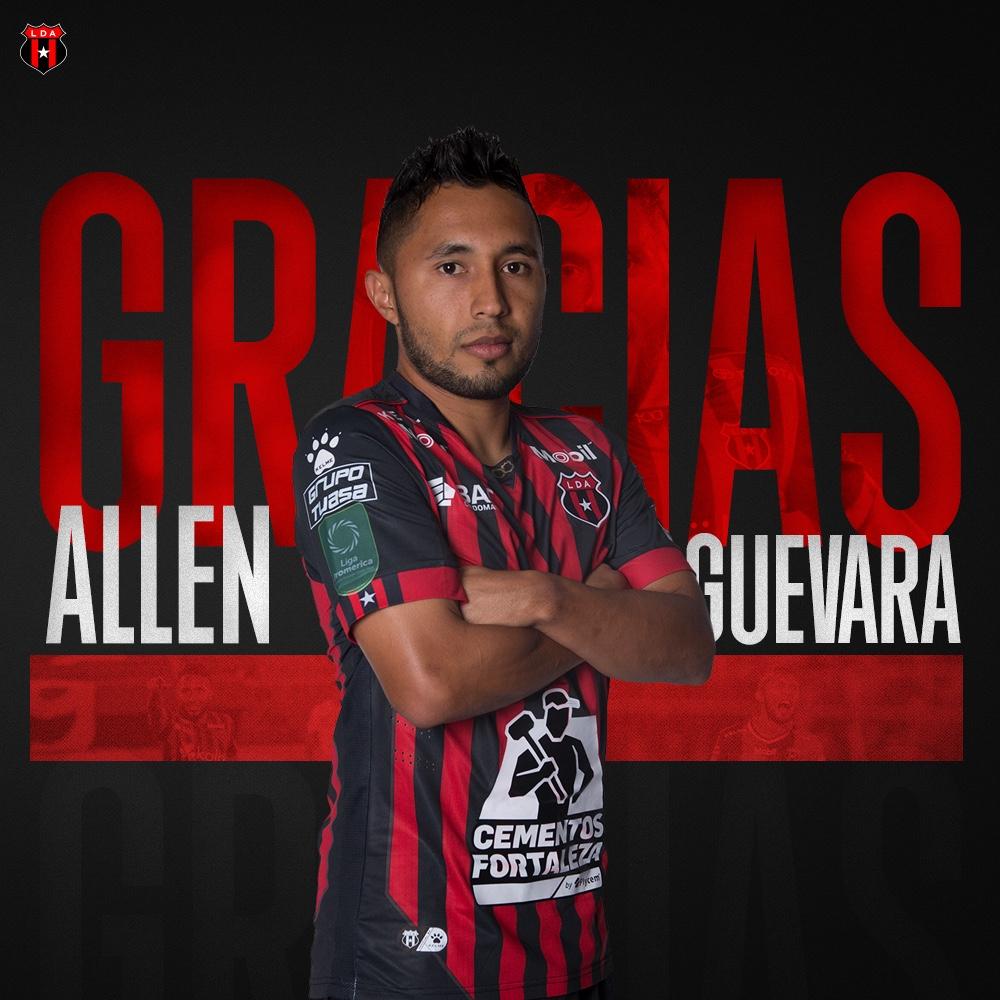 Alajuelense anuncia la salida de Allen Guevara.