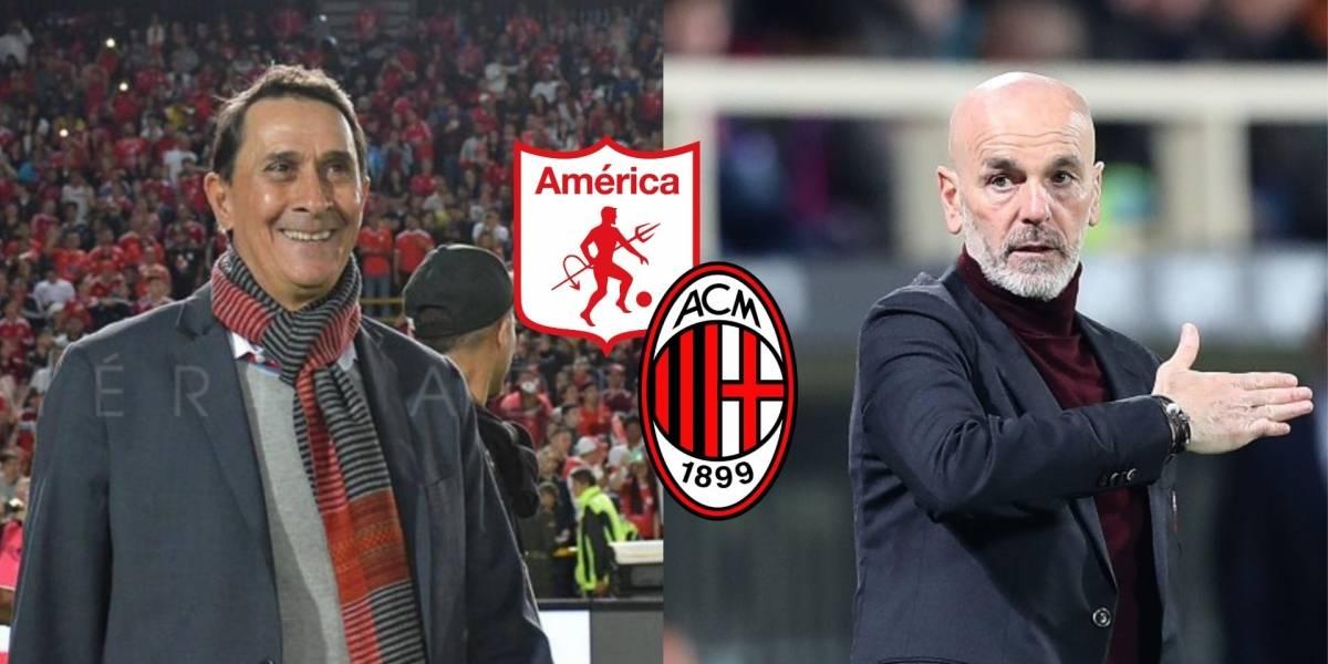 Técnico del Milan confesó por qué se inspiró en el América de Cali de Guimaraes.
