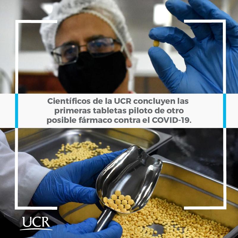 Científicos de la UCR concluyen las primeras tabletas piloto de otro posible fármaco contra la COVID-19