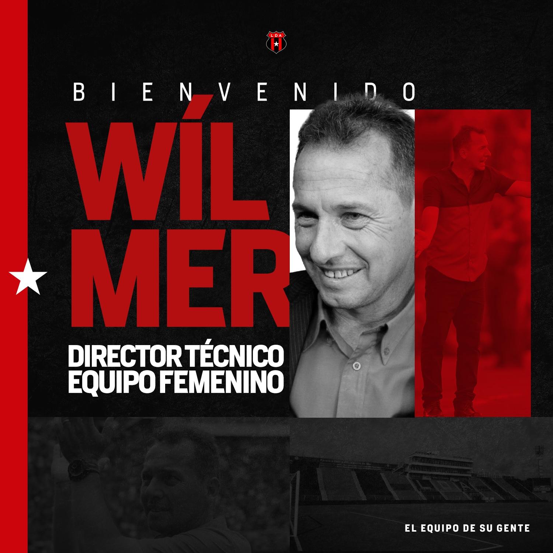 Wilmer López es el nuevo director técnico del equipo femenino de LDA.
