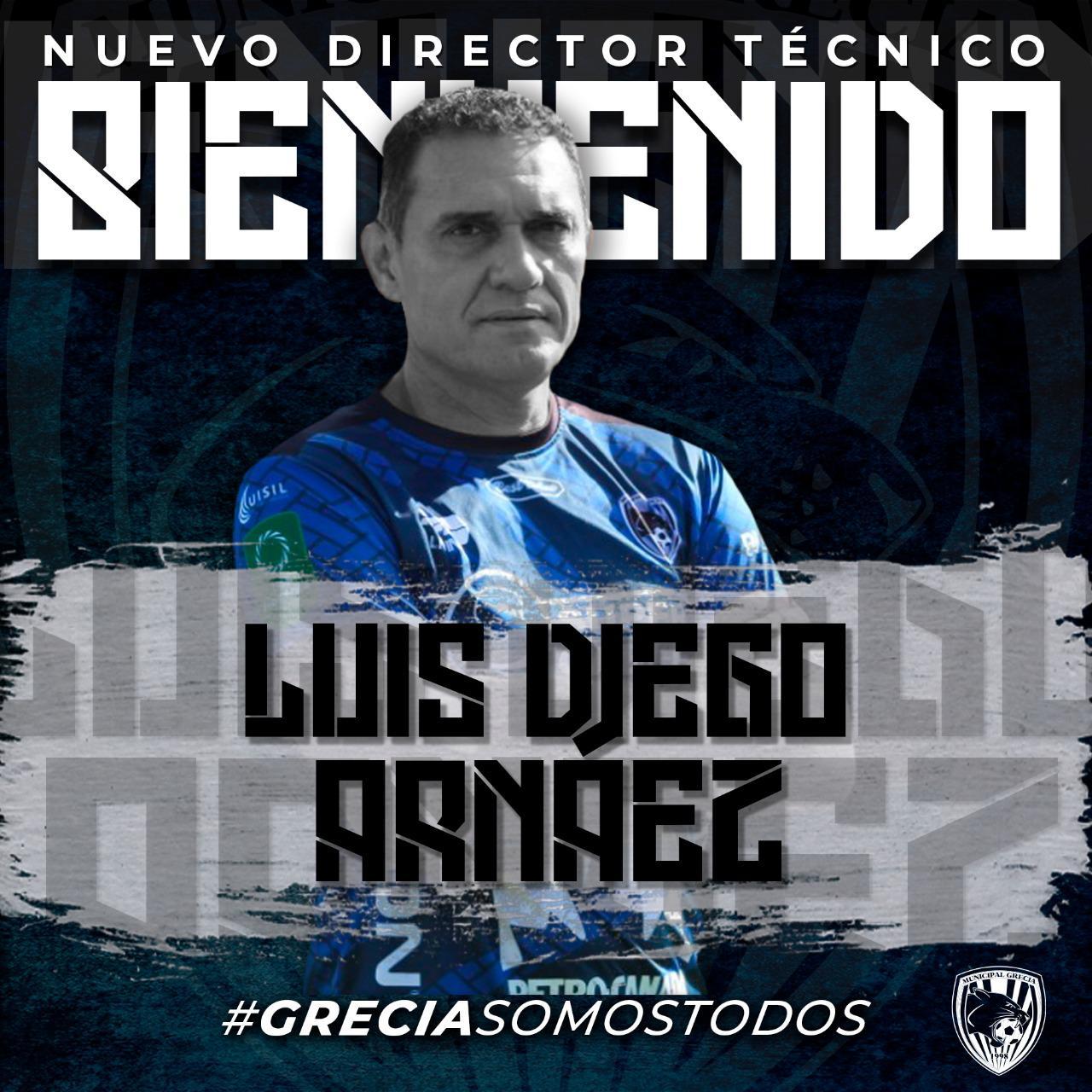 Luis Diego Arnáez es el nuevo técnico del Municipal Grecia.