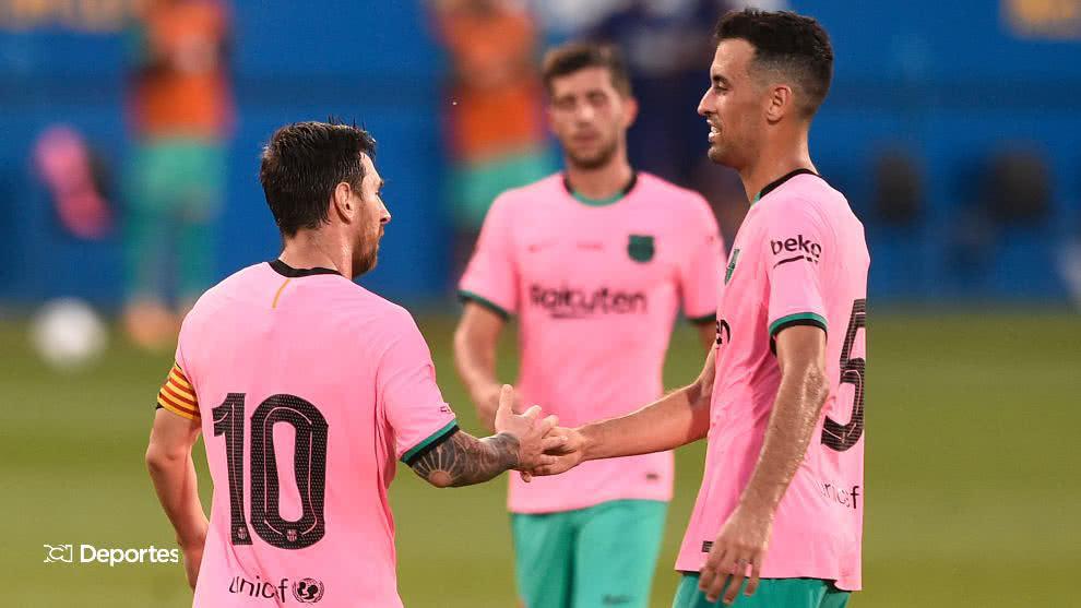 Con doblete de Messi, Barcelona derrotó a Girona en amistoso.