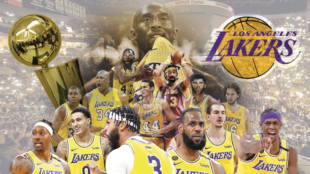Los Lakers, se coronaron campeones de la NBA tras 10 años de espera.