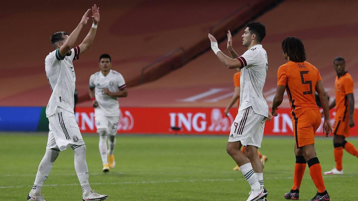 México se impuso por la mínima ante Países Bajos en amistoso.