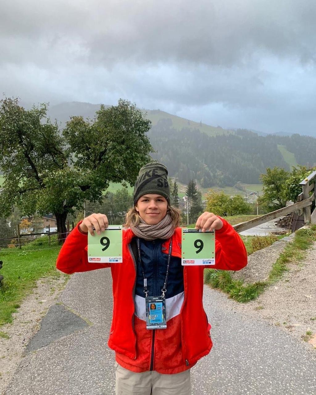 El costarricense, Pablo Aguilar, finalizó noveno en Mundial de Downhill.