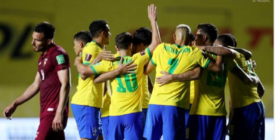 Brasil tuvo que esforzarse al máximo para vencer a una aguerrida Venezuela.