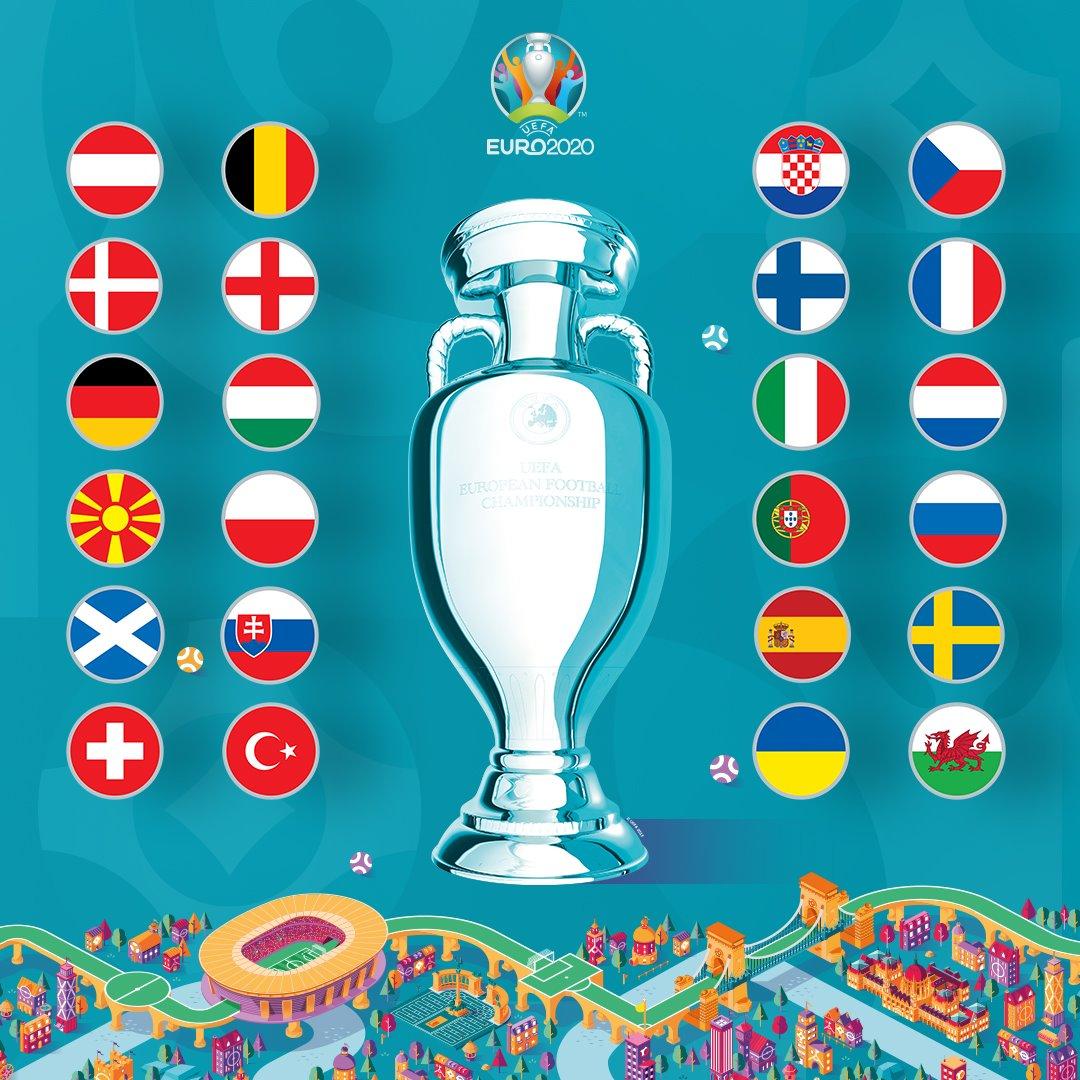 Eurocopa 2020: Quedaron definidos los 24 clasificados y sus grupos.